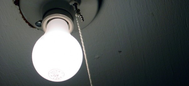Closeup of lightbulb